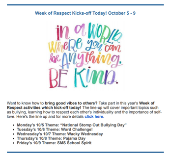South Mountain Week of Respect Activities