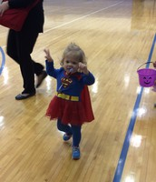 Super toddler here to party.