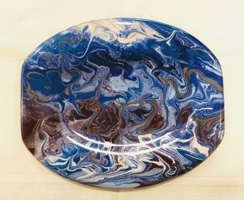 Paint Pour Fused Glass Art Class