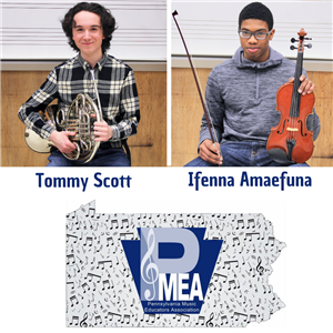 Three Instrumentalists Qualify for PMEA District 11 Band and Orchestra Festivals