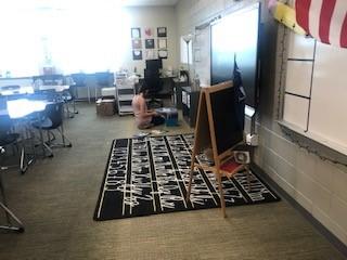 Ms. Lyons hard at work!