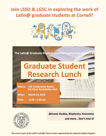 Graduate Student Research Lunch