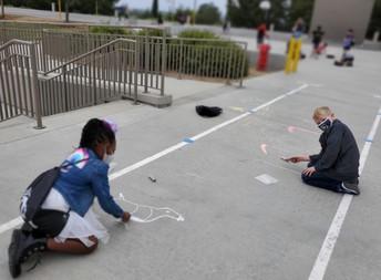 Chalk Art during Recess