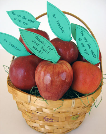 It's Fall Ya'all, another season to show our teachers and staff we appreciate them with a shiny, red apple!