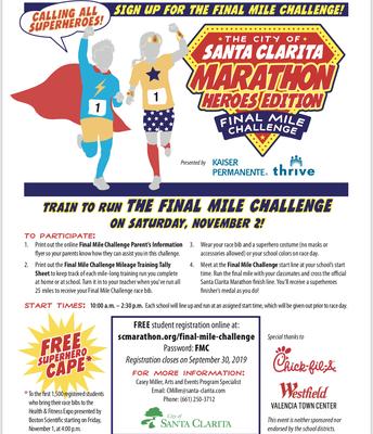 Santa Clarita Marathon Final Mile Challenge for Kids, 11/2