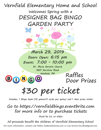 Only 1 More Week Until the Designer Bag Bingo Event!!  Join Our Garden Party!!