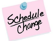 2nd semester schedule changes