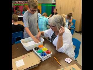 Teaching Mrs. Heffner Suminagashi,