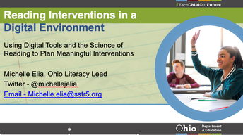Reading Interventions in a Digital Environment