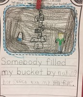 Mrs. Arnold's students work on filling each other's buckets!