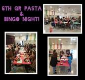 6th gr Pasta & BINGO Family Night