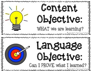 What is a language objective?  Our EL students NEED language growth, what are you doing in your classroom to grow them in this area?
