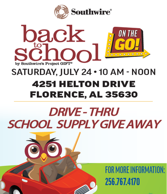 SOUTHWIRE SCHOOL SUPPLY GIVE AWAY