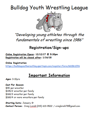 Bull Dog Youth Wrestling