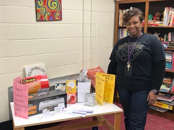 Ms. Whigham and some of her gifts!