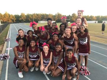 Our cheerleaders did a great job this football season.