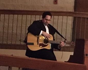 Mr. Toledo accompanying the Choir