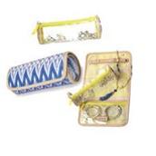Roll With It Jewelry Roll - Indigo Ikat