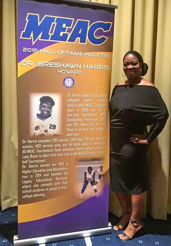 2015 MEAC Hall of Fame Inductee, Dr. Breshawn Harris