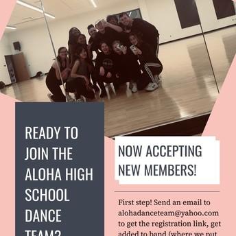 Join the AHS Dance Team