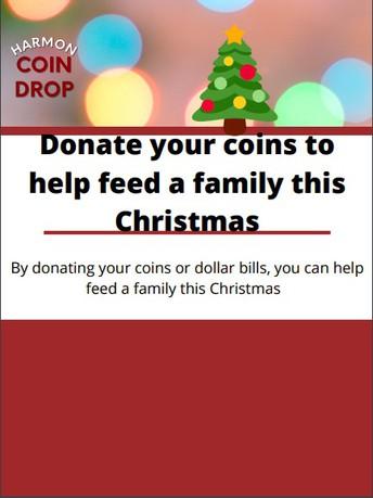 Harmon's Christmas Coin Drop Fundraiser
