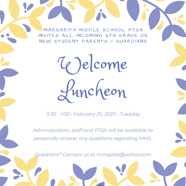 Parent Welcome Luncheon
