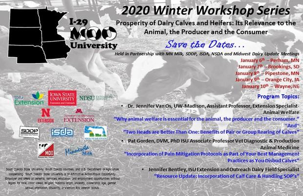 2020 Winter Workshop Series Save the Dates Postcard
