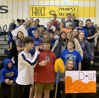 Student Section Supporting our 8th-grade Girls Basketball Team