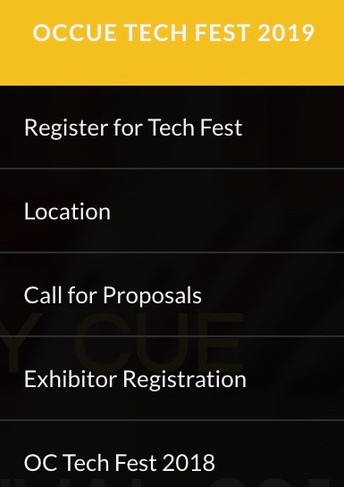Register for the 2019 OCCUE Tech Fest