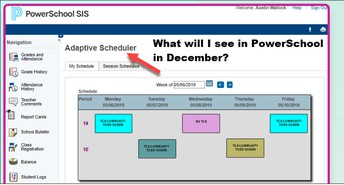 What will I see in PowerSchool in December?