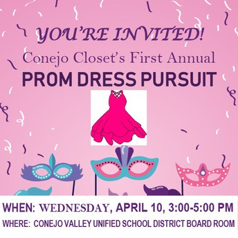 "Únase a nosotros para ""Prom Dress Pursuit"" el 10 de abril"