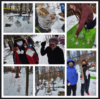 OVS 5 using ice to decorate outdoors