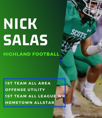 Senior Nick Salas