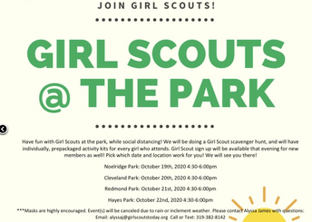 Girl Scouts @ the Park