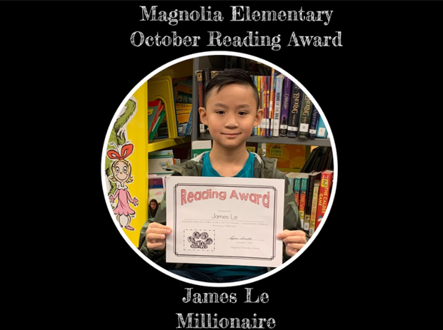 James Le with millionaire reading certificate