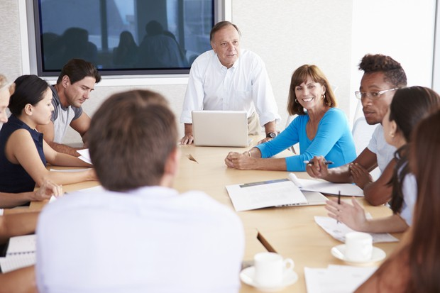 Group of people meeting together for common goal