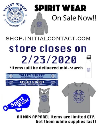 Talley Spirit Wear is Back!