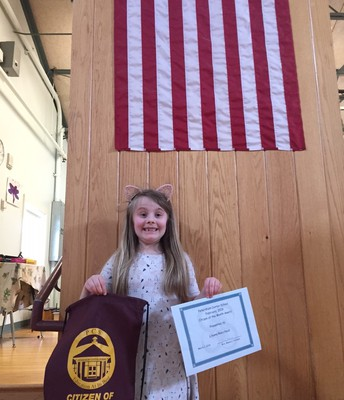 February's 2nd grade Citizen of the Month