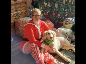 Ms. Brinkman and her dog, Six.