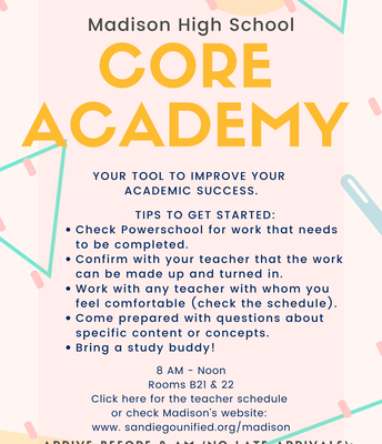 CORE Academy Overview, Madison High School