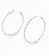 Isadora hoops-silver