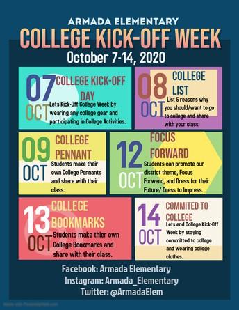 🎉Armada Elementary College Kick-Off Day! 🐾Armada Bulldogs are College Bound 🎓