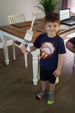 Johnathan is ready to explore space!