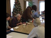 World Art Students Enjoy their Time with Residents