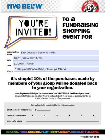 Five Below Shopping Fundraiser!