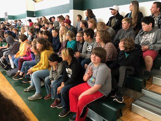 6th graders at the CJHS assembly last Friday