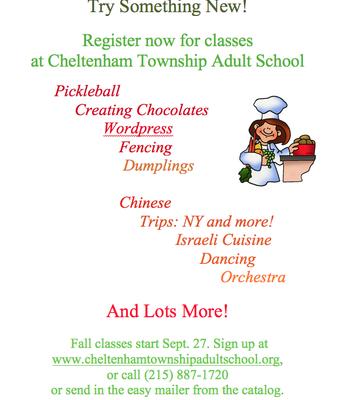 Register for Cheltenham Adult School Classes
