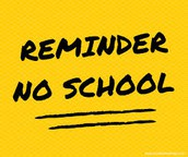 Reminder: No School on Friday, Oct. 20