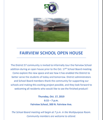 FAIRVIEW OPEN HOUSE