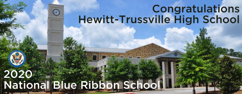 Hewitt-Trussville High School with 2020 National Blue Ribbon logo